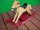 /#317 Classic Wood Rocking Horse