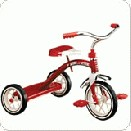 /#34 Ciassic Red Tricycle 10インチ