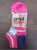 /anvilアンビル 靴下 3足組 カラーボーダー