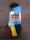 /anvilアンビル 靴下 3足組 ラメクウォーター