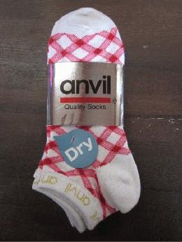 /anvilアンビル 靴下 3足組 ダイヤ柄 白
