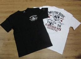 /ローブローナックル 半袖Tシャツ 「モーターライドミッキー」