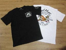 /ローブローナックル 半袖Tシャツ 「ロックロールミッキー&ミニー」