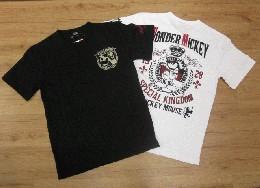 /ローブローナックル 半袖Tシャツ 「キングミッキー」