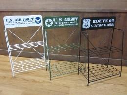 /U.S.AIR.FORCE&ARMY ワイヤーラック