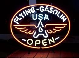 /ネオンサイン  【FLYING GASOLIN】 フライングガソリン オープン