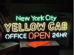 /ネオンサイン  【YELLOW CAB】 イエローキャブ オープン