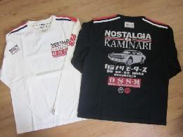 /カミナリ 長袖Tシャツ  NOSTALGIA KAMINARI 【ケンメリGTR】 KMLT-104